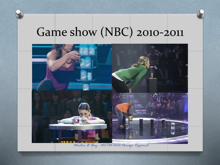 Game show (NBC) 2010-2011