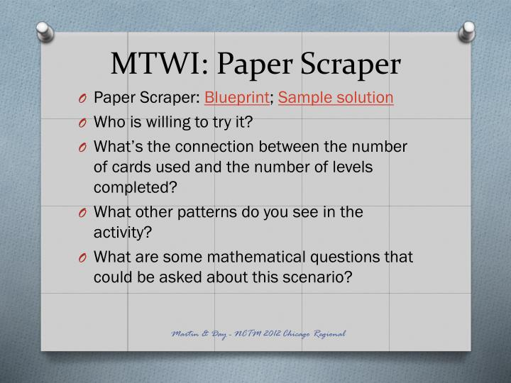 MTWI: Paper Scraper