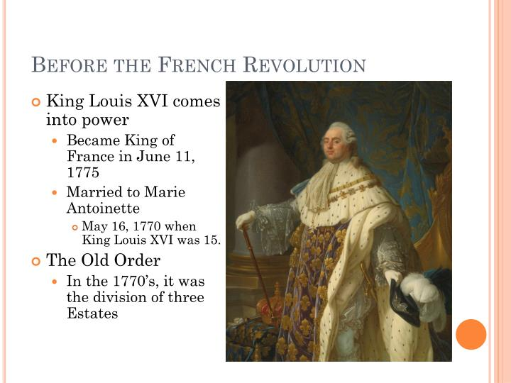 Before the French Revolution