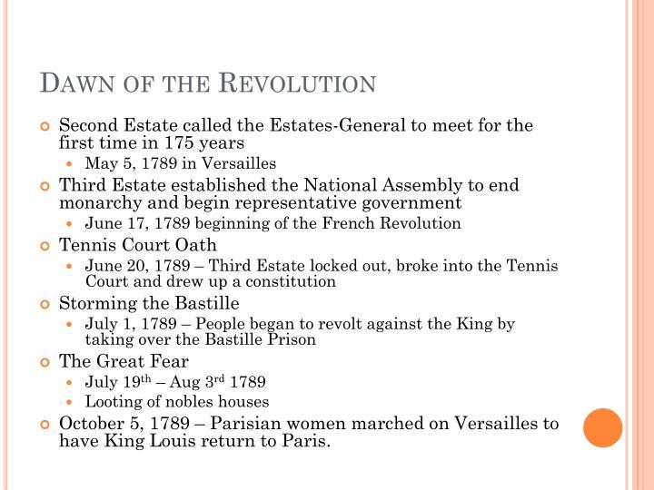 Dawn of the Revolution