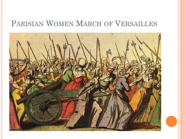 Parisian Women March of Versailles