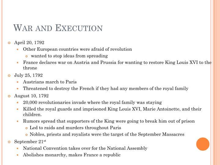 War and Execution