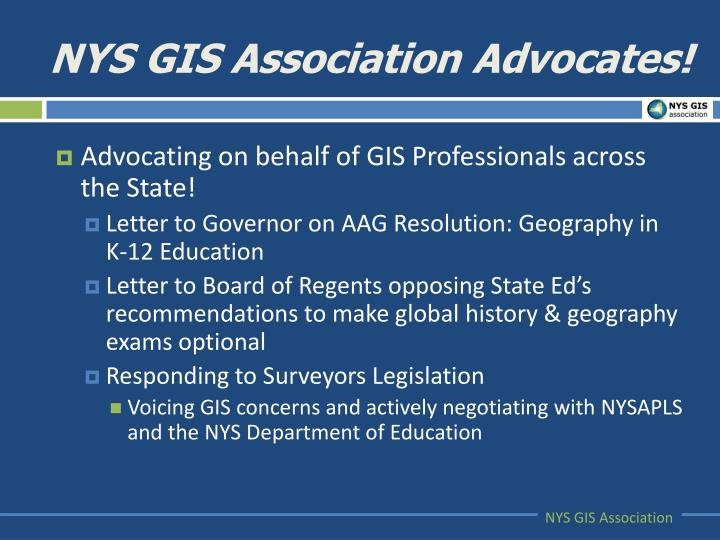 NYS GIS Association Advocates!