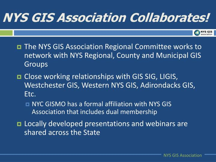 NYS GIS Association Collaborates!
