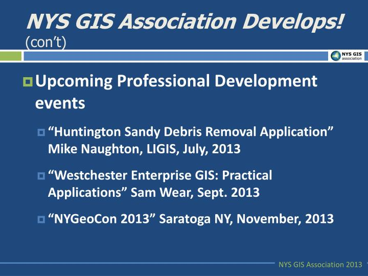 NYS GIS Association Develops!