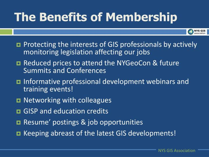 The Benefits of Membership