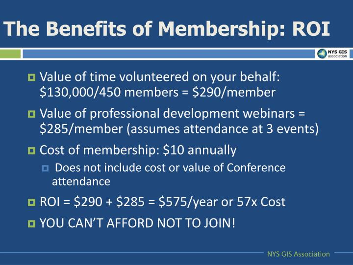 The Benefits of Membership: ROI