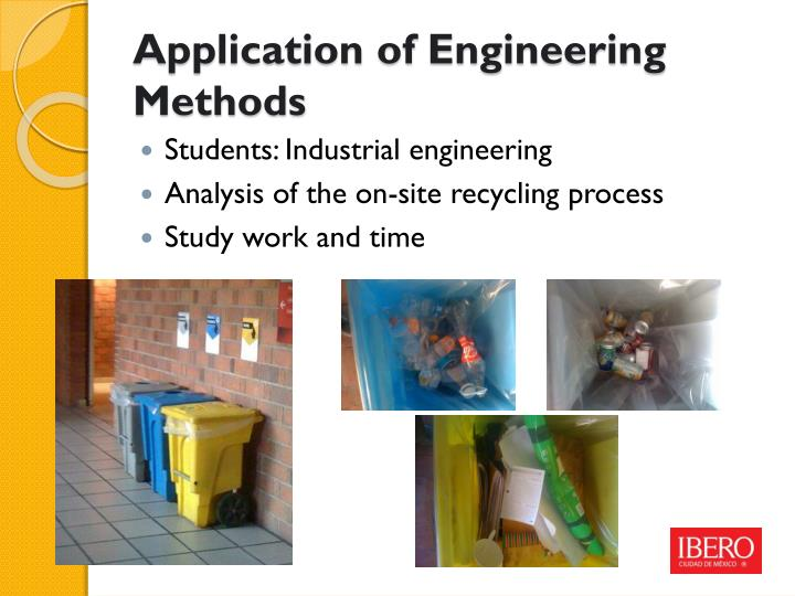 Application of Engineering Methods