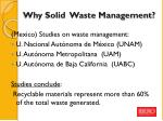 why solid waste management