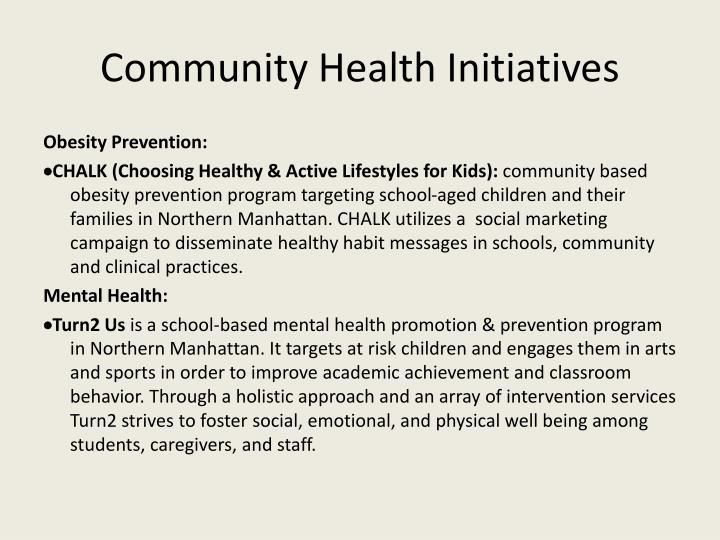 Community Health Initiatives