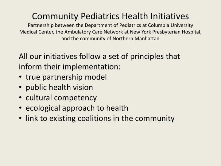 Community Pediatrics Health Initiatives
