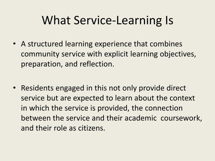 What Service-Learning Is
