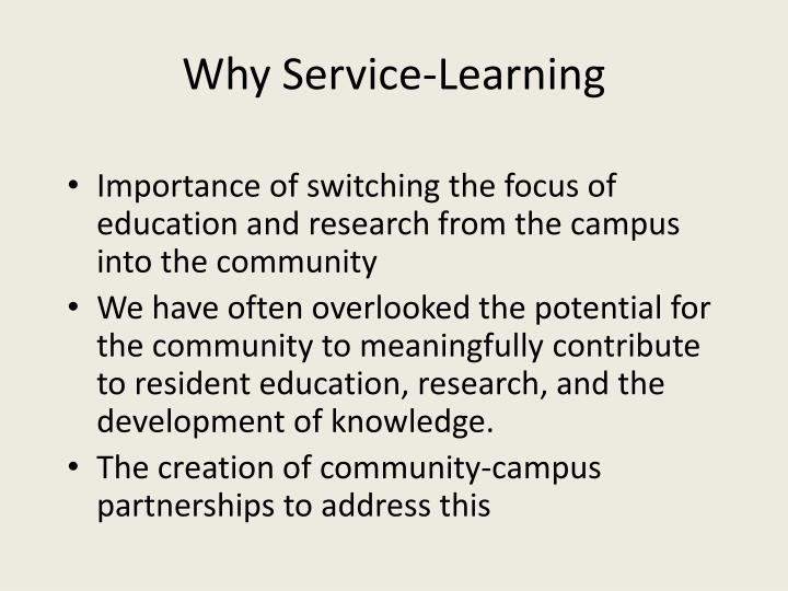 Why Service-Learning