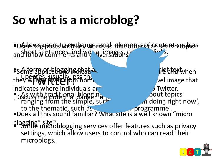 So what is a microblog?