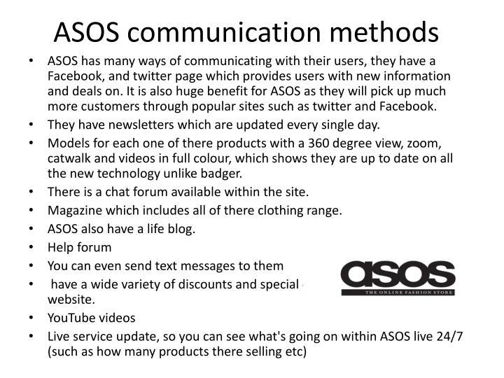 ASOS communication methods