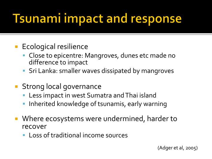 Tsunami impact and response