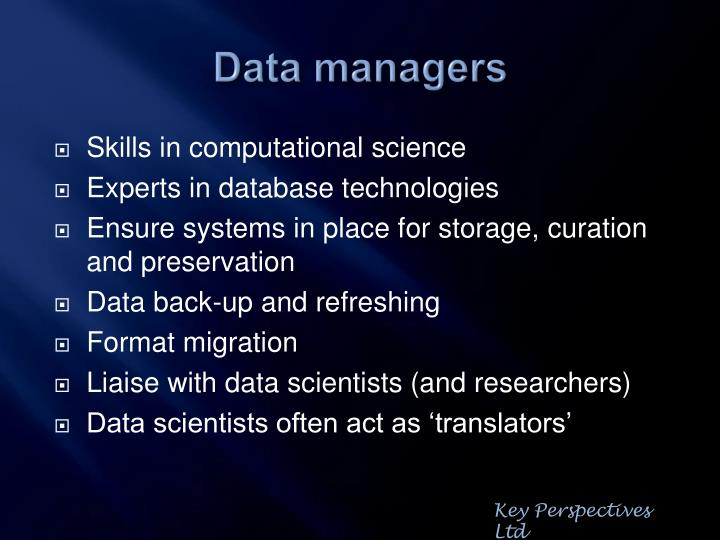 Data managers