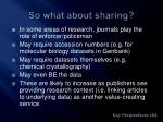 so what about sharing