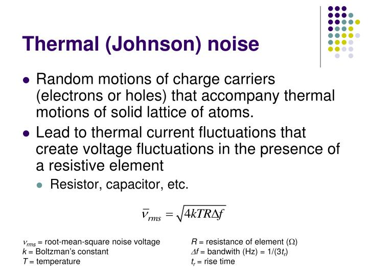 Thermal (Johnson) noise
