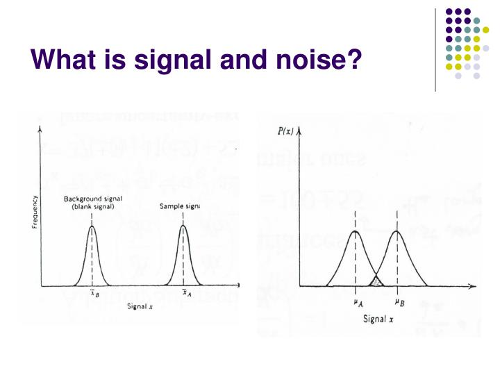 What is signal and noise
