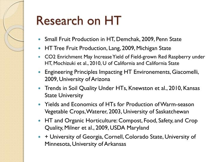 Research on HT