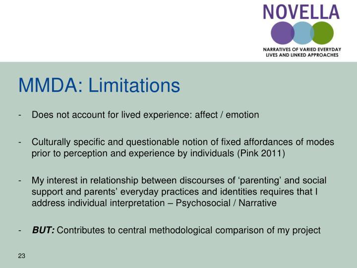 MMDA: Limitations