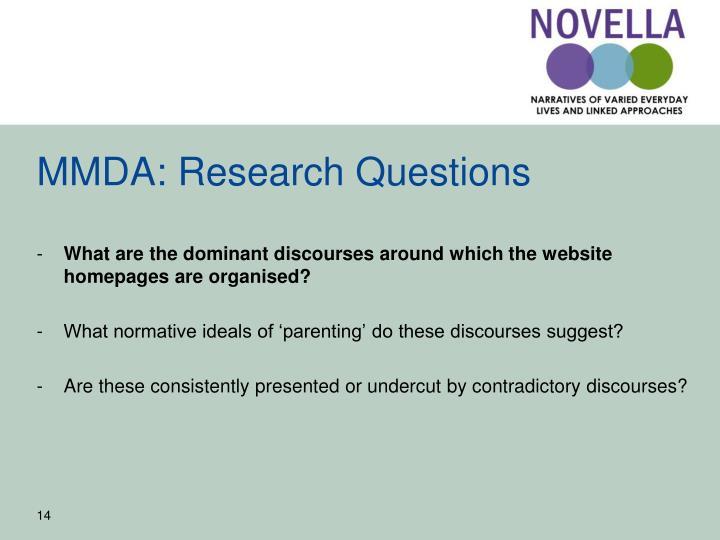MMDA: Research