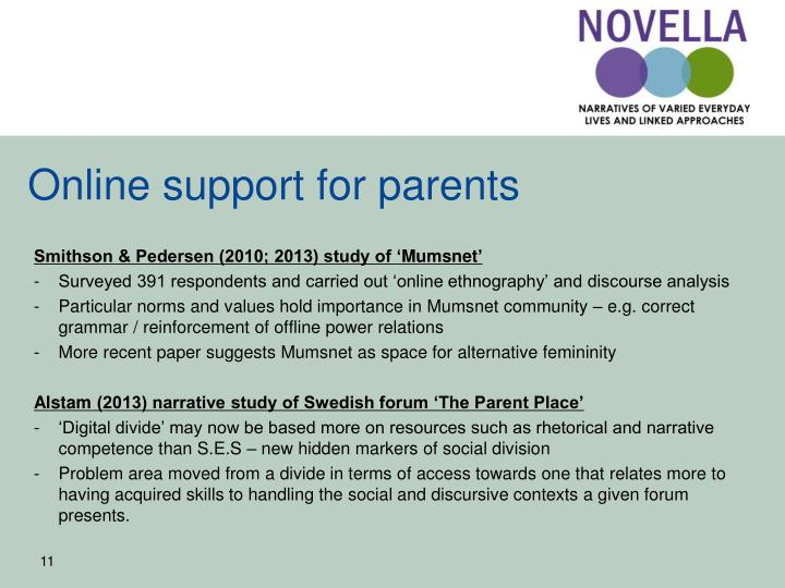 Online support for parents