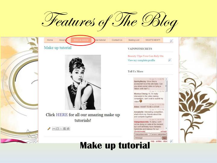 Features of The Blog