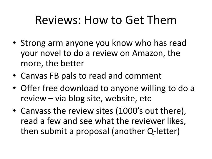 Reviews: How to Get Them