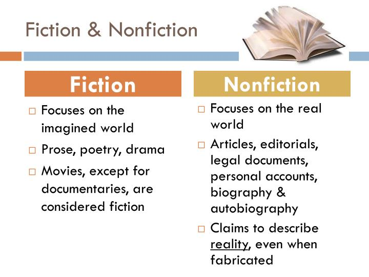 Fiction nonfiction
