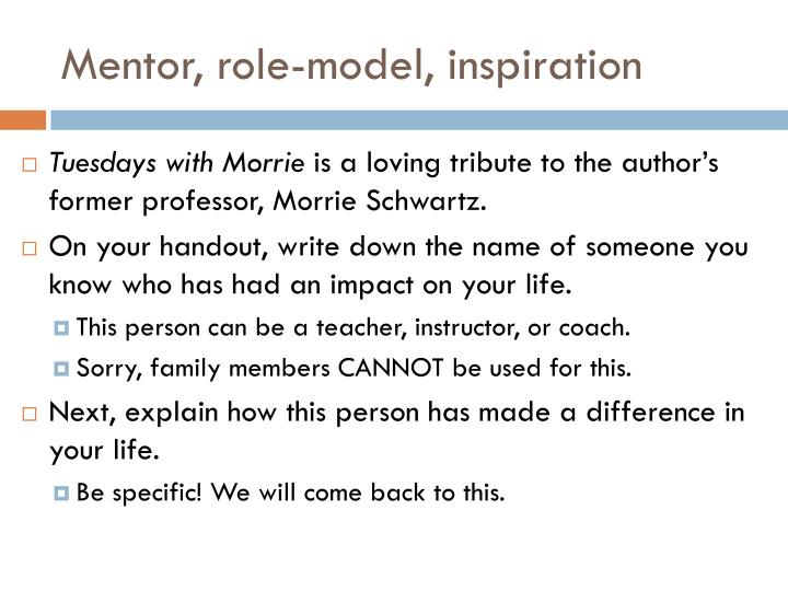Mentor role model inspiration