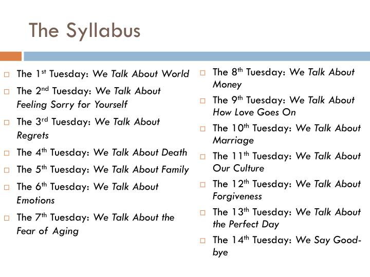 The Syllabus
