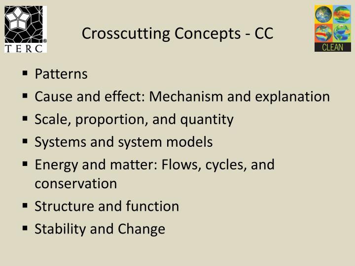 Crosscutting Concepts - CC