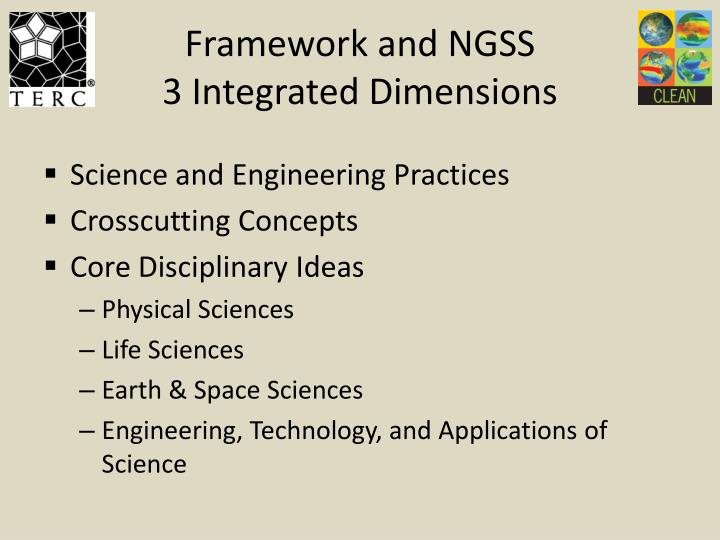 Framework and NGSS
