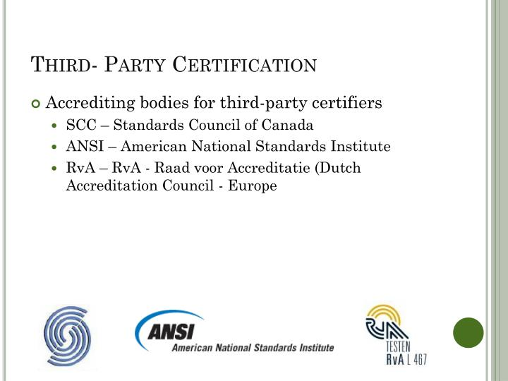 Third- Party Certification