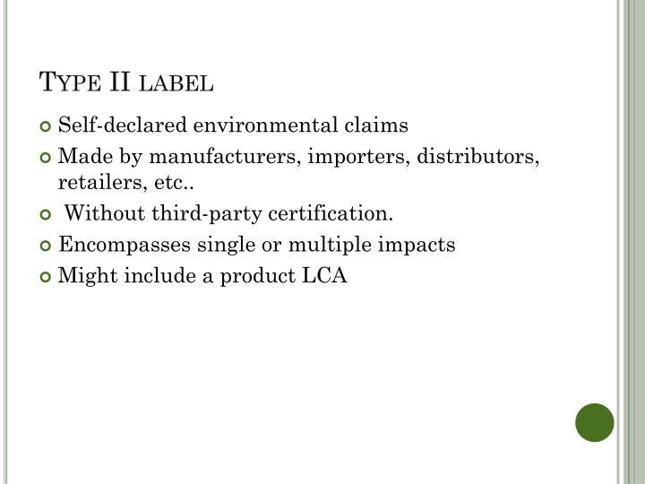 Type II label