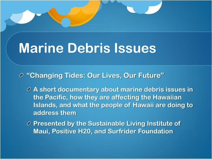 Marine Debris Issues