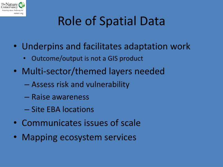 Role of Spatial Data