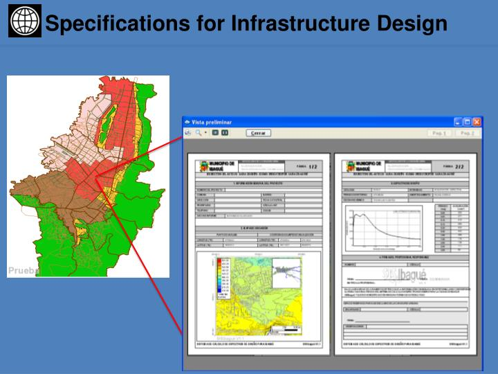 Specifications for Infrastructure