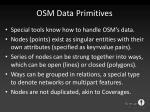 osm data primitives