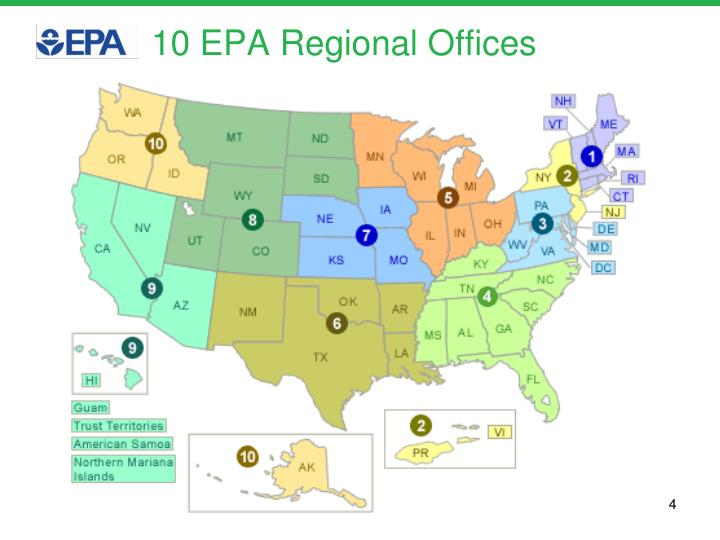 10 EPA Regional Offices