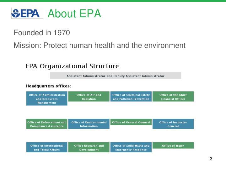 About EPA