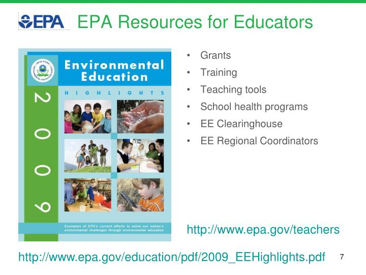 EPA Resources for Educators