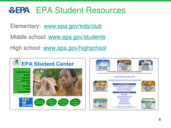 EPA Student Resources