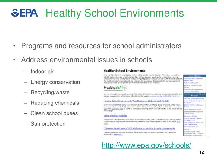 Healthy School Environments
