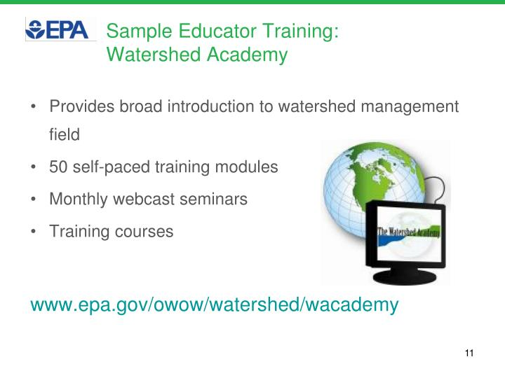 Sample Educator Training: