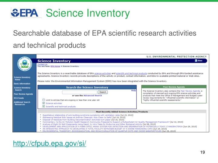 Science Inventory