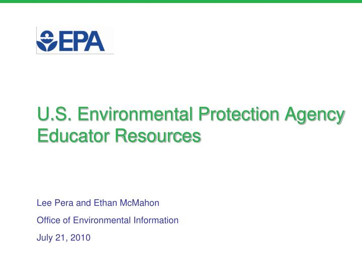 U s environmental protection agency educator resources