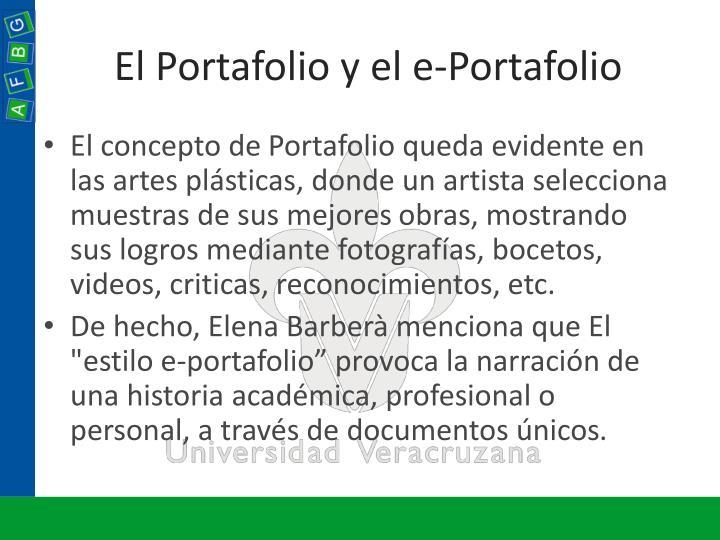 El Portafolio y el e-Portafolio